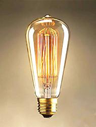 Недорогие -40w Edison st64 прямой провод лампочки для продажи Edison искусство украшения света