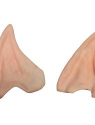 Недорогие -1 пара фея эльфийский поддельный эльф уши Хэллоуин косплей аксессуары Хэллоуин партия украшения мягкий заостренный протезный ухо