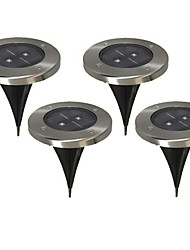 cheap -Pack of 4 Warm White Solar Ground Light for Garden Landscape Lighting Pathway Stairway