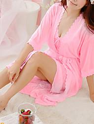 Недорогие -женская мода сексуальные кружева / льда шелка пижамы тонкие, набор из трех частей