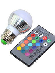 E26/E27 LED Smart Bulbs G95 1 High Power LED 240lm RGB K Dimmable Remote-Controlled AC 85-265V