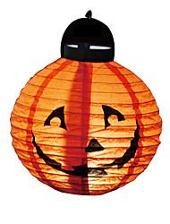 baratos -1 pcs decoração de Halloween levaram abóbora luz papel pendurado lanterna lâmpada adereços Halloween fontes do partido ao ar livre