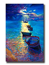 cheap -Hand-Painted Abstract Landscape Still Life Vertical, Modern European Style Canvas Oil Painting Home Decoration One Panel