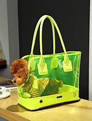preiswerte -Katze Hund Transportbehälter &Rucksäcke Tragetasche Haustiere Träger Tragbar Solide Weiß Gelb Rose