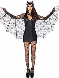 Недорогие -Bats Вампиры Косплэй Kостюмы Костюм для вечеринки Маскарад Жен. Хэллоуин Карнавал Новый год Фестиваль / праздник Костюмы на Хэллоуин Инвентарь Черный Однотонный
