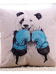 cheap -1 pcs Cotton/Linen Pillow Case, Animal Print Graphic Prints Novelty Traditional/Classic Modern/Contemporary