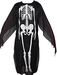 Хэллоуин носить напечатанные скелет костюмы взрослых призрак одежды скелет для ребенка&украшения партии взрослый плюс размер