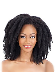"cheap -Pre-loop Crochet Braids Hair Braid Afro Kinky 14"" 16"" 18"" 20"" 22"" Synthetic Hair Dark Black Black Dark Brown Medium Brown #118 Braiding"