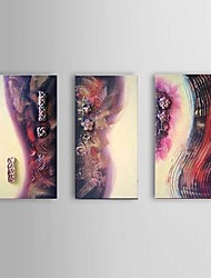 With Frame Hand-painted Oil Paintings Abstract Thick Texture Purple Wall Art Ready to Hang