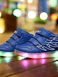 cheap -Boys' Shoes Leatherette Spring Comfort / Light Up Shoes Sneakers Walking Shoes Magic Tape / LED for White / Blue