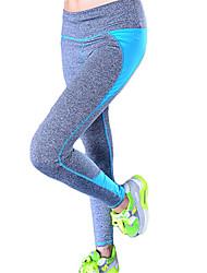 billige -Dame Patchwork Yoga bukser - Rose Rød, Grøn, Blå Sport Sexet, Mode Spandex Tights Pilates, Træning & Fitness, Løb Sportstøj / Åndbart