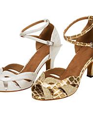 cheap -Women's Dance Shoes Leatherette / Sparkling Glitter Latin / Salsa Sandals / Heels Customizable