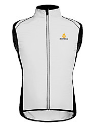 cheap -WOSAWE Cycling Vest Unisex Bike Vest/Gilet Windbreaker Top Bike Wear Quick Dry Windproof Front Zipper Breathable Lightweight Materials