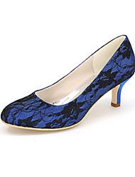 abordables -Femme Chaussures Soie Printemps Eté Chaussures à Talons Talon Aiguille pour Mariage Soirée & Evénement Blanc Noir Bleu Rose Ivoire