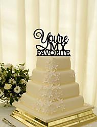 Decorazioni torte Non personalizzate Coppiaclassica Acrilico Matrimonio Fiori Nero Classico 1 Confezione regalo