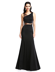 Sheath / Column V-neck Floor Length Jersey Prom Formal Evening Dress with Pleats by TS Couture®