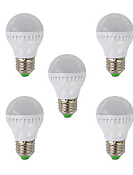 E26/E27 LED Globe Bulbs G45 26 SMD 3022 350lm Warm White 2700K AC 220-240V