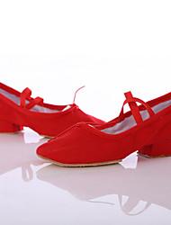 """Mujer Latino Zapatillas de Baile Satén Tacones Alto Interior Actuación Tacón Cuadrado Negro Rojo Rosa Menos de 1 """" Personalizables"""