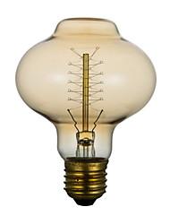 e27 40w d80 lanterne autour de l'hôtel restaurant soie, Edison mariage banquet bar rétro ampoule décorative