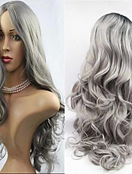 cheap -Synthetic Wig Body Wave Side Part Dark Roots Ombre Hair Gray Women's Carnival Wig Halloween Wig Capless Wig Long Synthetic Hair