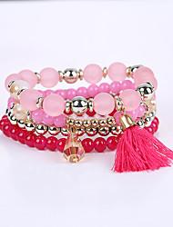 cheap -Women's Girls' Bracelet Strand Bracelet Tassel Multi Layer Handmade Acrylic Alloy Jewelry Congratulations Business Casual Outdoor Costume