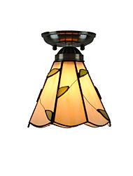 7 inch Retro Tiffany Ceiling Lamp Glass Shade Flush Mount Living Room Bedroom Dining Room Kids Room light Fixture
