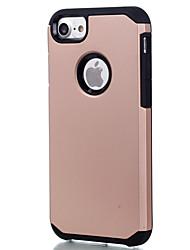 economico -Custodia Per Apple Custodia iPhone 5 iPhone 6 iPhone 7 Resistente agli urti Per retro Tinta unica Resistente PC per iPhone 7 Plus iPhone