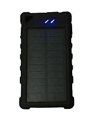 banca di potere della batteria esterna 5V 1.0A #A Caricabatteria Torcia Multiuscita Ricarica ad energia solare LED