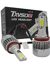 Universality 2x H11 LED Headlight COB 110W Car Led Headlights Bulb CONVERSION KIT Light 6500K Auto Headlamp