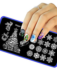 1PC Christmas DIY Image Stamp Stamper Plate Manicure Template Nail Art Stamping Tool Printing Transfer