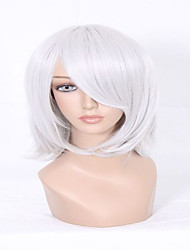 The Latest Styles No Flaws D.Gray Man Allen Walker Silvery Grey Short Straight Man Cosplay Wigs
