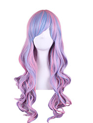 cheap -Synthetic Wig Body Wave Pink Women's Cosplay Wig Synthetic Hair