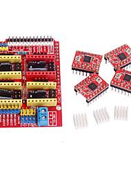 economico -cnc scudo v3 conducente a4988 passo-passo per rampe 1.4 RepRap stampante 3d