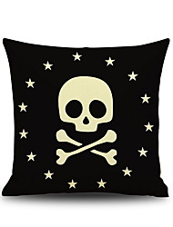 Halloween Fifteen Star Skull Head Dangerous Linen Decorative Throw Pillow Case Cushion Cover