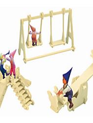 Недорогие -Деревянные пазлы Китайская архитектура Детская площадка профессиональный уровень деревянный 1pcs Детские Мальчики Подарок