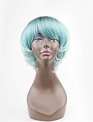 abordables -Pelucas sintéticas Ondulado Con flequillo Pelo sintético Azul Peluca Mujer Sin Tapa