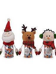 economico -1pc natale pet caramelle vaso verde - Babbo Natale / pupazzo di neve / alce (colore casuale)