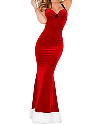 cheap -Women's Halter Backless Vintage Christmas Long Party Red Dress
