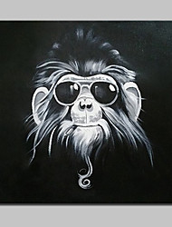 Hand Painted With Glasses Gorilla Oil Painting On Canvas Modern Abstract Wall Art Picture For Home Decoration With Stretched Frame Ready To Hang