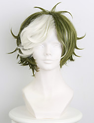 abordables -Pelucas sintéticas / Pelucas de Broma Recto Pelo sintético Peluca Hombre / Mujer Corta Sin Tapa