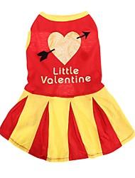 abordables -Chat Chien Robe Vêtements pour Chien Décontracté / Quotidien Rayure Rouge Bleu Rose Costume Pour les animaux domestiques