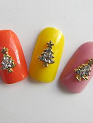10 Nail Art Decoración Las perlas de diamantes de imitación maquillaje cosmético Nail Art