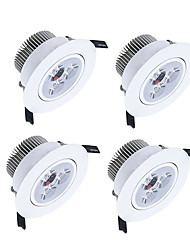 cheap -450-550lm 3 LEDs Dimmable LED Downlights Warm White Cold White Natural White