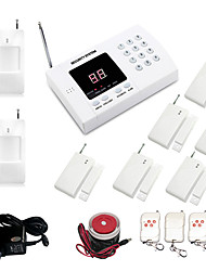 cheap -99 Zone Auto Dial Wireless Burglar Alarm System With 6pcs Door Sensor 2pcs PIR And 4 Remote Control