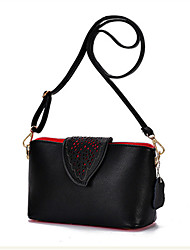cheap -Women Bags PU Crossbody Bag for Casual All Seasons Black Fuchsia Blue Light Brown