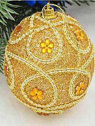 decorazioni di Natale 8 paillettes cm di lusso vestito di alta qualità decorare palline di Natale albero di Natale da appendere colore
