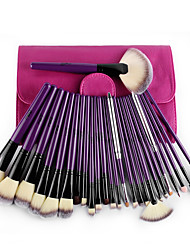 MSQ® 24 Makeup Brushes Set NylonEco-friendly / Horse Hair / Limits bacteria / Hypoallergenic / Portable / Professional / Travel / Full
