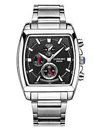 levne -LONGBO Pánské Křemenný Sportovní hodinky Voděodolné / Svítící Nerez Kapela Luxus / Na běžné nošení Černá / Bílá