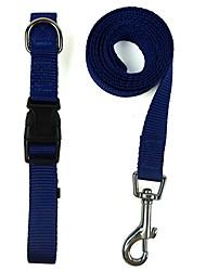 preiswerte -Katze Hund Halsbänder Leinen Regolabile / Einziehbar Reflektierend Weich Laufen Bequem Cosplay Solide Nylon Purpur Rot Grün Blau Rosa