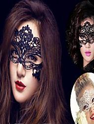 Acessórios do partido Máscara Halloween Tema Clássico Other Não-Personalizado Tecido Não Tecido Preta / Branco 1Peça/Conjunto